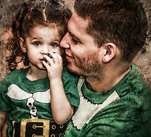 Papa & Lilly Elf by Randy Turnbow