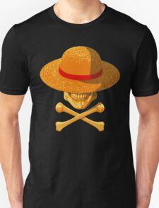 one piece skull realistic hat flag logo ワンピース luffy nami Unisex T-Shirt