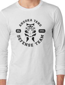 Ahsoka Tano Defense Team (black text) Long Sleeve T-Shirt