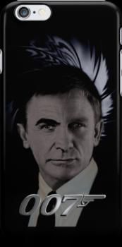 "James Bond 007 iphone case ""Bonded"" Connery/Craig full circle 2 by ALIANATOR"