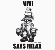 Vivi Says Relax - Sketch em up Baby Tee