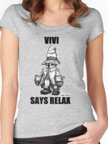 Vivi Says Relax - Sketch em up Women's Fitted Scoop T-Shirt