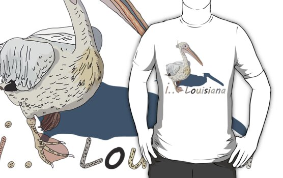 I LOVE LOUISIANA T-shirt by ethnographics