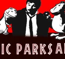 jurassic parks and rec Sticker