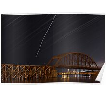 rice's point star trail Poster