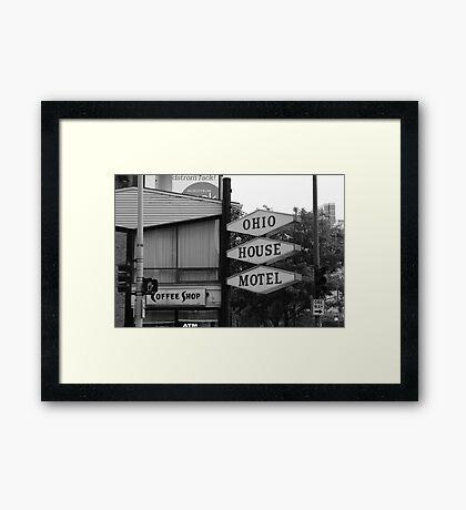 Chicago Motel Framed Print