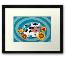 Psychedelic Cow Framed Print