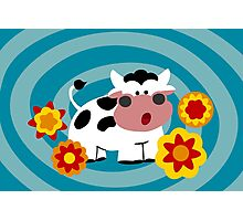 Psychedelic Cow Photographic Print