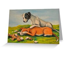 Vicious Pit Bull Dogs! Greeting Card