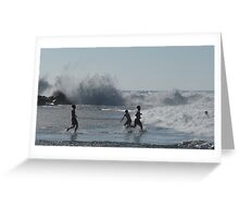 Exploding Waves Greeting Card