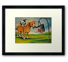 Selfish Pit Bull Dogs! Framed Print