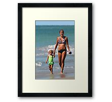 Beach Mom Framed Print