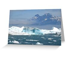 Icebergs on Prince William Sound Greeting Card