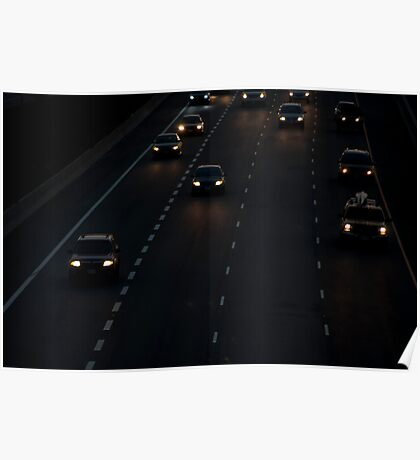 Highway 401 West of Don Mills (#411) Poster