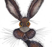 BROWN HARE h2304 by Hares & Critters