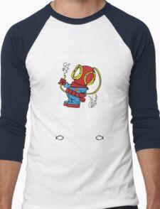 Superman Scuba Diving Men's Baseball ¾ T-Shirt
