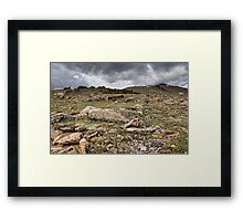 Rocky Tundra and Clouds Framed Print