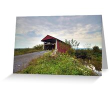 The Historic Hayes Covered Bridge Greeting Card