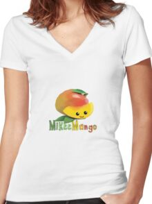 Mikee Mango Women's Fitted V-Neck T-Shirt