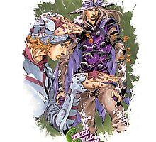 JoJo's Bizarre Adventure - Gyro & Johnny Joestar by Onimihawk