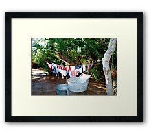 Old timey washing Framed Print