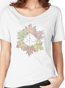 Leaf Circle Women's Relaxed Fit T-Shirt