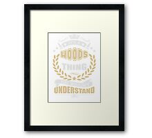 WOODS THING T SHIRTS Framed Print