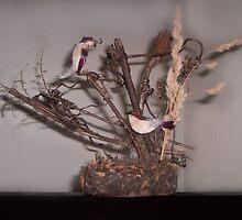 Birds on Fallen Trees by F. Magdalene Austin