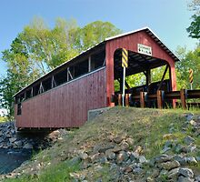 Rural  Renewal at the Frazier Covered Bridge by Gene Walls