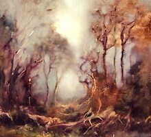 Woodland Dawn by C J  Elsip