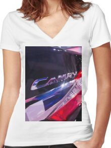 Toyota Camry Brand Logo [ Print & iPad / iPod / iPhone Case ] Women's Fitted V-Neck T-Shirt