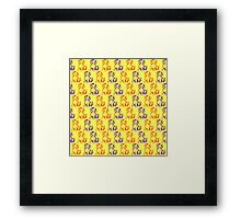 Cute dog puppies pattern for kids Framed Print