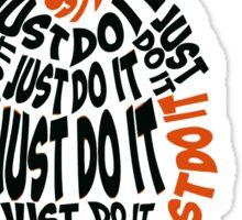 JUST DO IT - Shia LaBeouf orange Sticker
