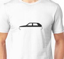 Silhouette Volkswagen VW Golf Mk2 Unisex T-Shirt