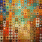 Circles and Squares 1. Modern Geometric Art by Mark Lawrence