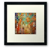 Circles and Squares 1. Modern Geometric Art Framed Print