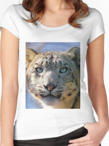 Beautiful Snow Leopard Women's Fitted Scoop T-Shirt