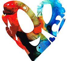 Love 8 - Heart Hearts Romantic Art by Sharon Cummings