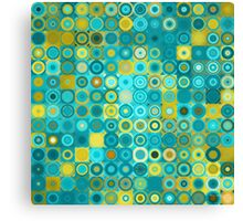 Circles and Squares 6. Modern Home Decor Canvas Print