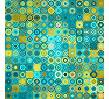 Circles and Squares 6. Modern Home Decor Photographic Print