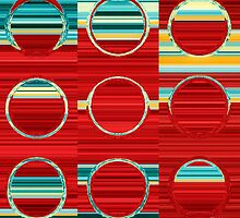 Circles and Squares 8. Modern Art Decor by Mark Lawrence