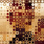 Circles and Squares 10. Modern Geometric Art by Mark Lawrence