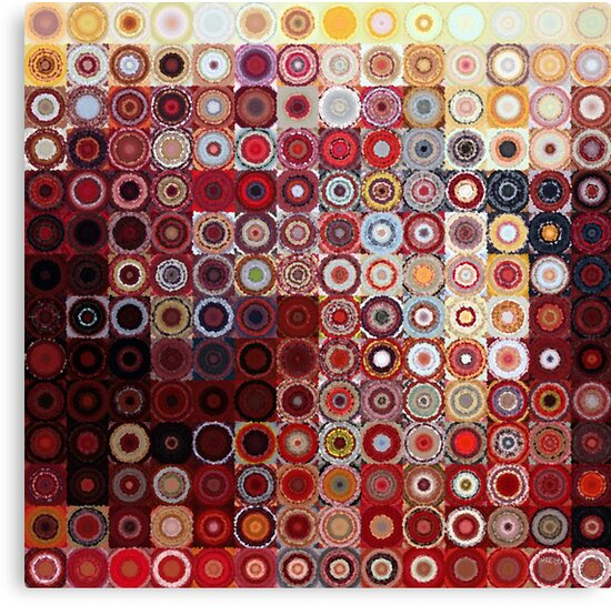 Circles and Squares 11. Modern Geometric Art by Mark Lawrence
