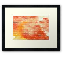 Circles and Squares 14. Modern Geometric Art Framed Print