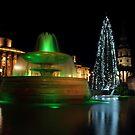 Christmas Day. Trafalgar Square. by Irina Chuckowree
