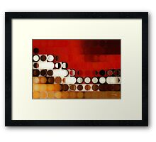 Circles and Squares 17. Modern Geometric Art Framed Print