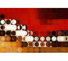 Circles and Squares 17. Modern Geometric Art Photographic Print