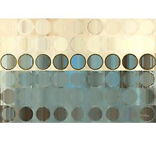 Circles and Squares 18. Modern Geometric Art Photographic Print