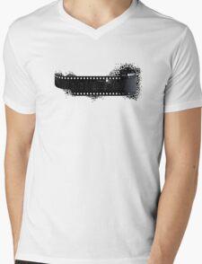 Black and White City Mens V-Neck T-Shirt