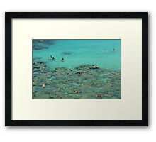 Snorkelling - travel photography print Framed Print